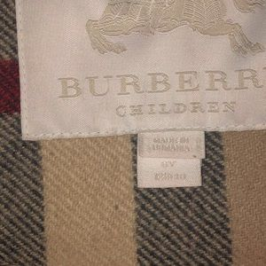 Children Burberry PeaCoat Size 8